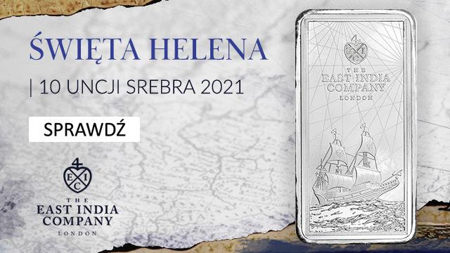 Sztabko Moneta Święta Helena St. hellena silver bar 10oz
