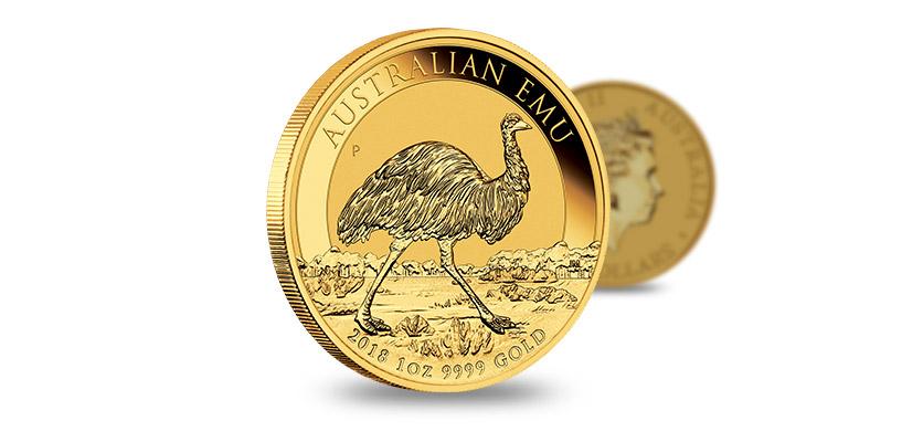 Australijski Emu 2018, złota moneta, 1 uncja