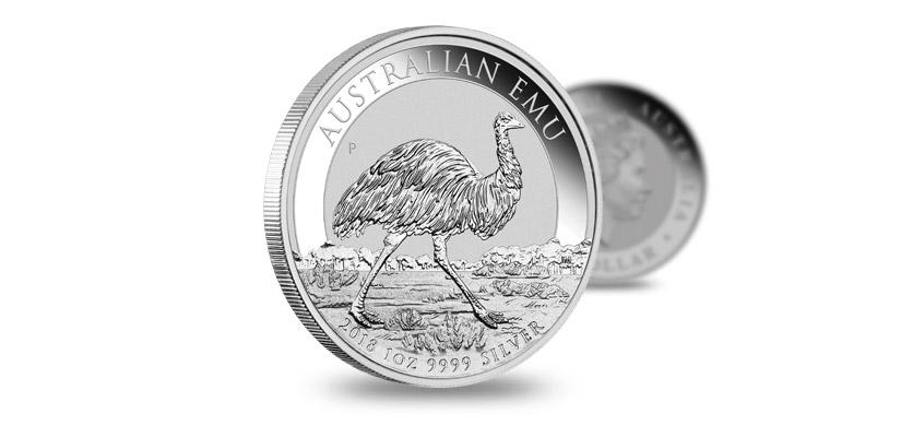 Australijski Emu 2018, srebrna moneta, 1 uncja