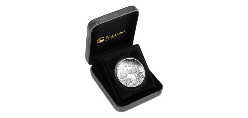 Australijski Emu 2018, opakowanie do srebrnej monety proof, 1 uncja