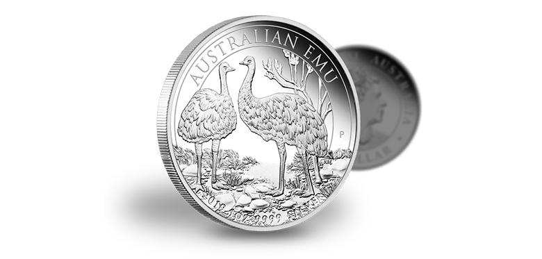 Australijski Emu 2018, srebrna moneta proof, 1 uncja