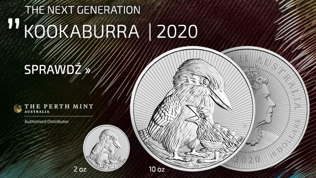 Kookaburra 1 uncja Srebra 2020