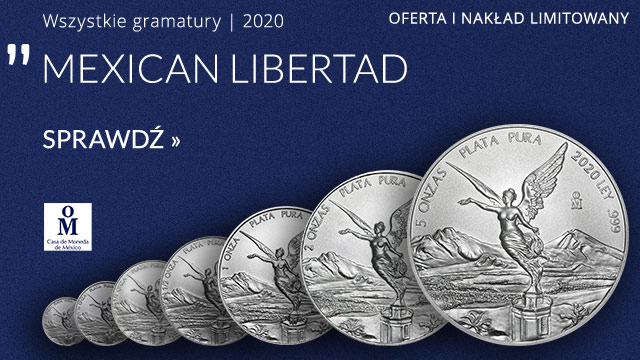 Meksykańska Bogini Wolności (Mexican Libertad) 1 Uncja Srebra