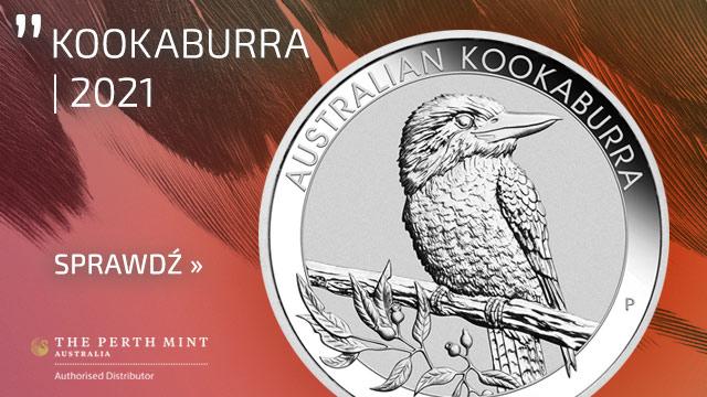 Kookaburra 5 uncji Srebra 2021 Incused