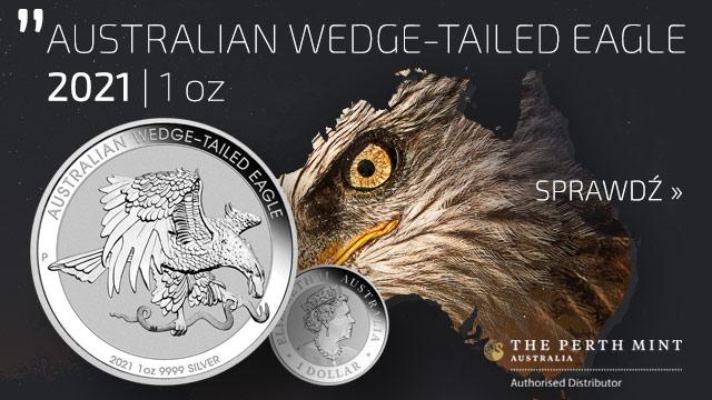 Orzeł Australijski 1 uncja Srebra 2021