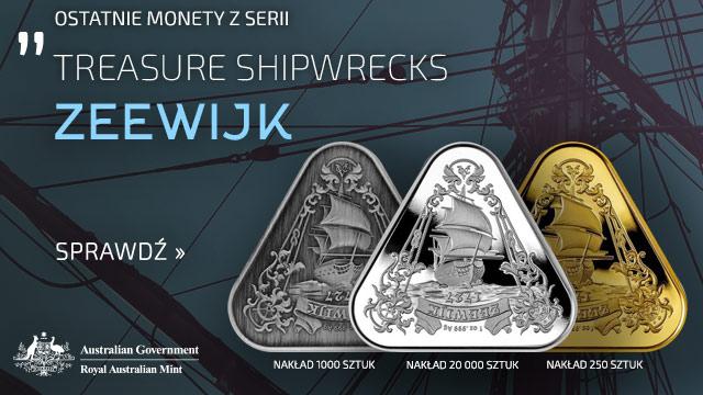 Treasure Shipwrecks: Zeewijk 1 uncja Srebra 2021