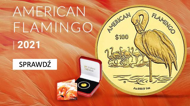 Amerykański Flaming 1/2 grama Złota 2021