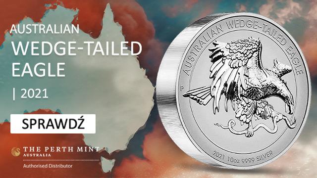 Orzeł Australijski 10 uncji Srebra 2021 Proof High Relief