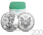 American Eagle 1 oz Silver 2020 Investment Sets 200 Pc.