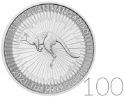 Australian Kangaroo 1 oz Silver Sets 100 Pc. 2021