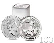 Britannia 1 oz Silver 2020 Investment Sets 100 Pc.