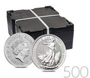 Britannia 1 oz Silver 2020 Investment Sets 500 Pc.