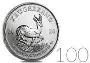 Krugerrand 1 oz Silver 2020 Investment Sets 100 Pc.