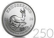 Krugerrand 1 oz Silver 2020 Investment Sets 250 Pc.