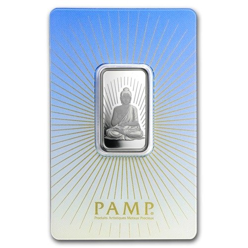 10 Gram Bar Silver Pamp Suisse Religious Series Buddha