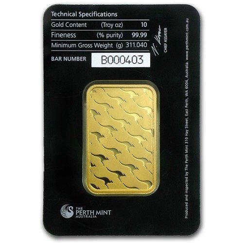 10 Oz Gold Bar Perth Mint Www Metalmarket Eu