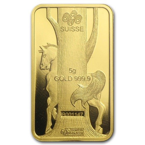 5 Gram Gold Bar Lunar Year Of The Horse Year Of The Horse