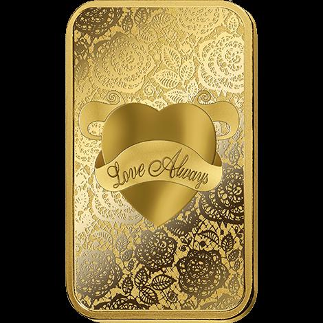5 Gram Gold Bar Pamp Suisse Love Always Www Metalmarket Eu