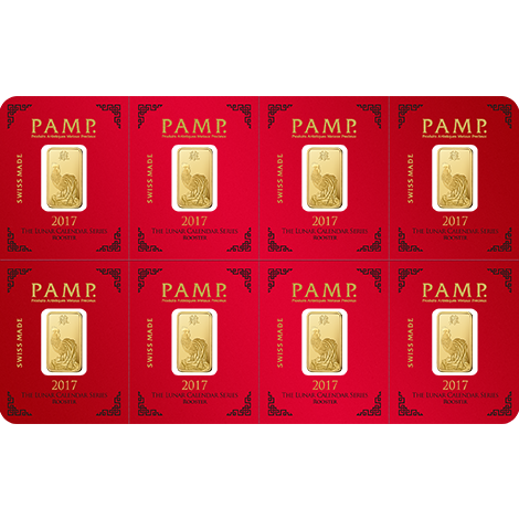 8 X 1 Gram Gold Bar Lunar Year Of The Rooster Www