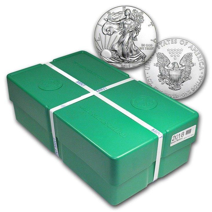 1 Oz Silver Eagle Monster Box 500 Coins