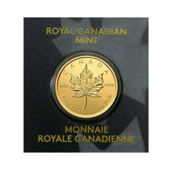 Canadian Maple Leaf 1 Gram Gold Www Metalmarket Eu
