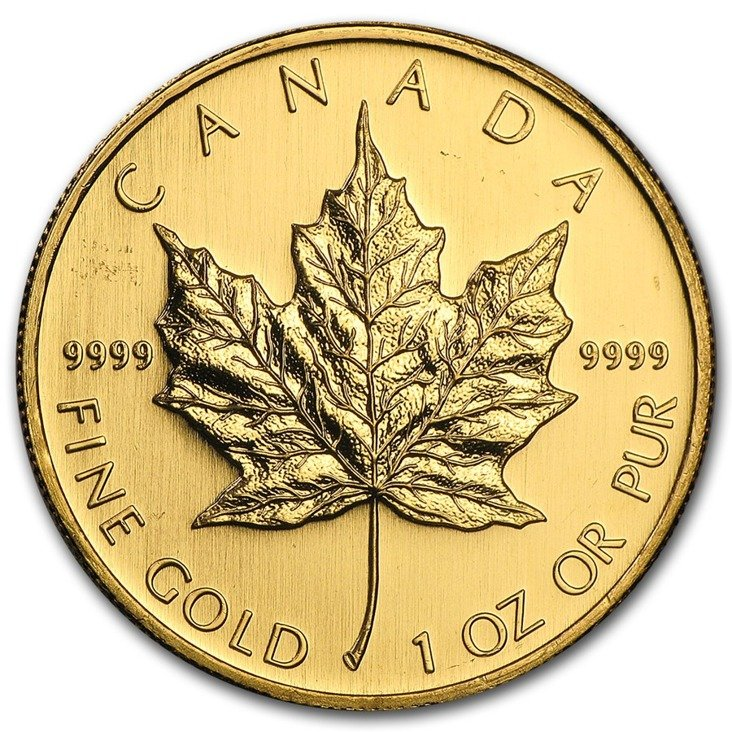 Canadian Maple Leaf 1 Oz Gold 2008 Www Metalmarket Eu