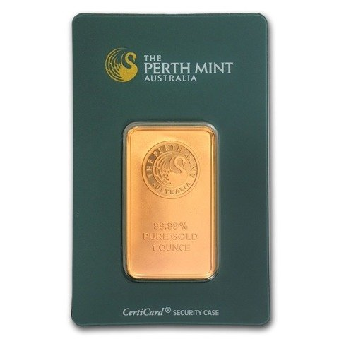 1 oz Gold Bar Perth Mint