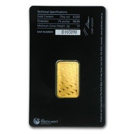 10 gram Gold Bar Perth Mint