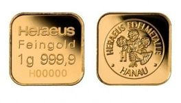 10 x 1 gram Gold Bar MultiCard Heraeus