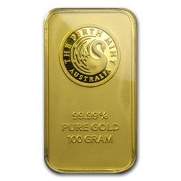 100 gram Gold Bar Perth Mint