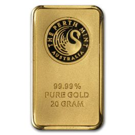 20 gram Gold Bar Perth Mint