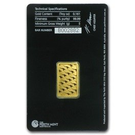 5 gram Gold Bar Perth Mint