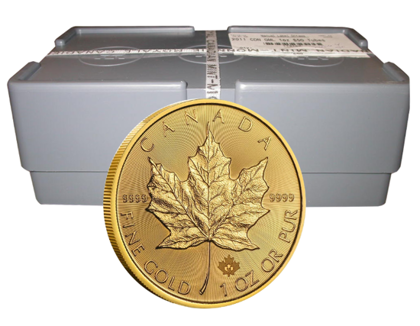 500-Coin 1 oz Gold Maple Leaf Masterbox