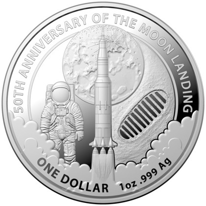 50th Anniversary of the Moon Landing 1 oz Silver 2019