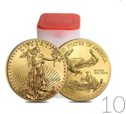 American Eagle 1 oz Gold 2021 Investment Sets 10 Pcs.
