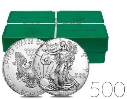 American Eagle 1 oz Silver 2021 Investment Sets 500 Pcs.
