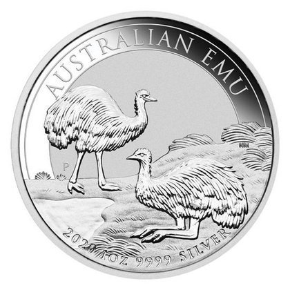 Australian Emu 1 oz Silver 2020 MS 70 NGC First Day of Issue