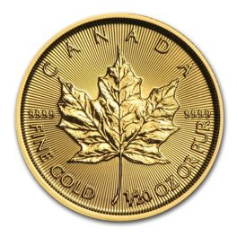Canadian Maple Leaf 1/20 oz Gold 2017