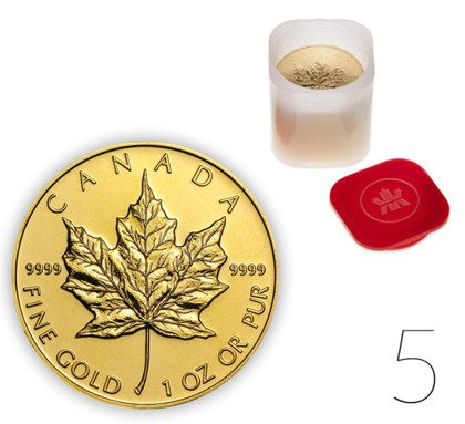 Canadian Maple Leaf 1 oz Gold Investment Sets 5 Pc.