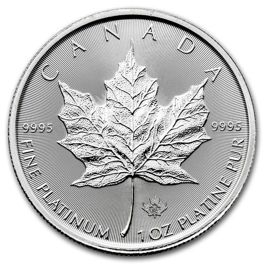 Canadian Maple Leaf 1 oz Platyny