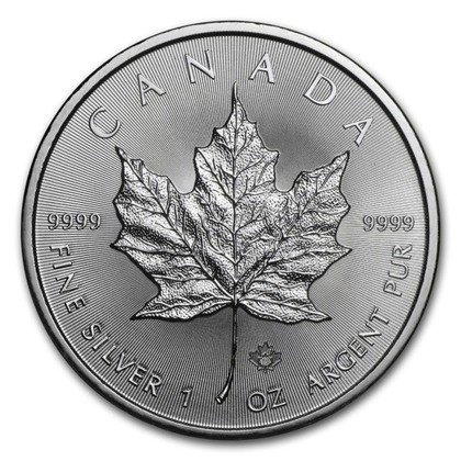 Canadian Maple Leaf 1 oz Silver 2018