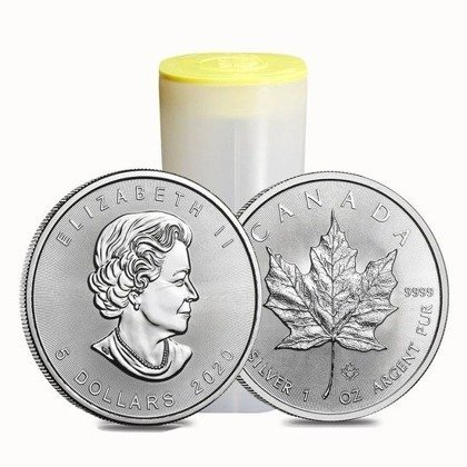 Canadian Maple Leaf 1 oz Silver 2020 Investment Sets 500 Pc.