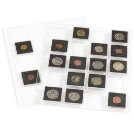 ENCAP Clear Pages for Square Coin Capsules QUADRUM