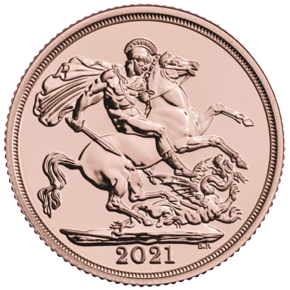 Great Britain: Gold Sovereign Elizabeth II 2021