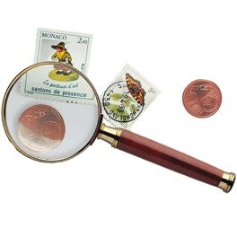 Handle magnifier Rosewood 3x magnification