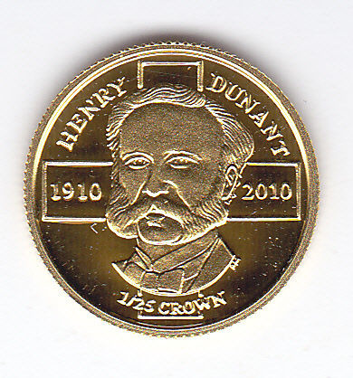 Henri Dunant 1/25 oz Gold 2010 Proof