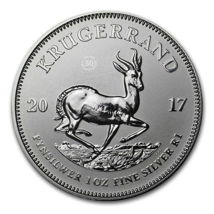 Krugerrand 1 oz Silver 2017 (50th anniversary)