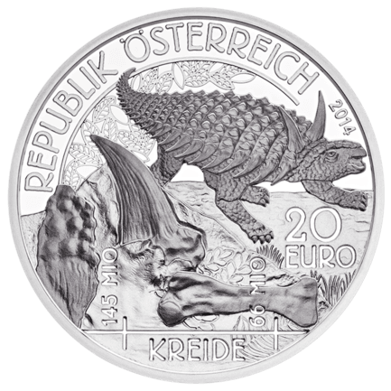 Life on the Ground: Cretaceous 20 Euro 2014 Proof