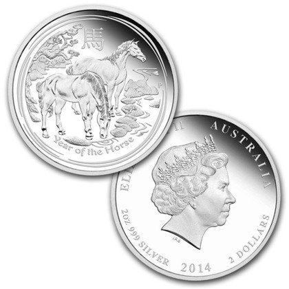 Lunar II: Year of the Horse Set 3,5 oz Silver 2014 Proof