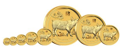 Lunar II: Year of the Pig 1/4 oz Gold 2019